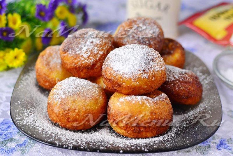 Пошаговый рецепт творожные пончики