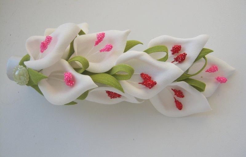 Цветы из фоамирана мастер класс каллы