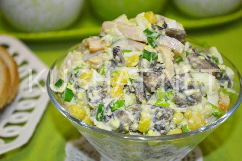 Салаты с кукурузой и ветчиной рецепты с простые и вкусные