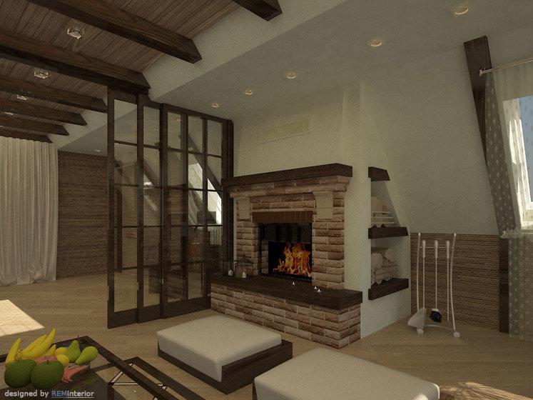 Фото дизайн дома с мансардой