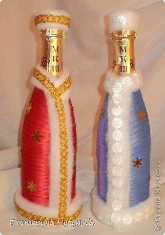Украшение шампанского лентами мастер класс
