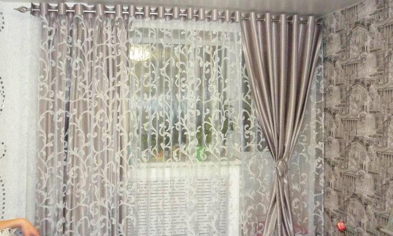 Дизайн штор люверсы для гостиной