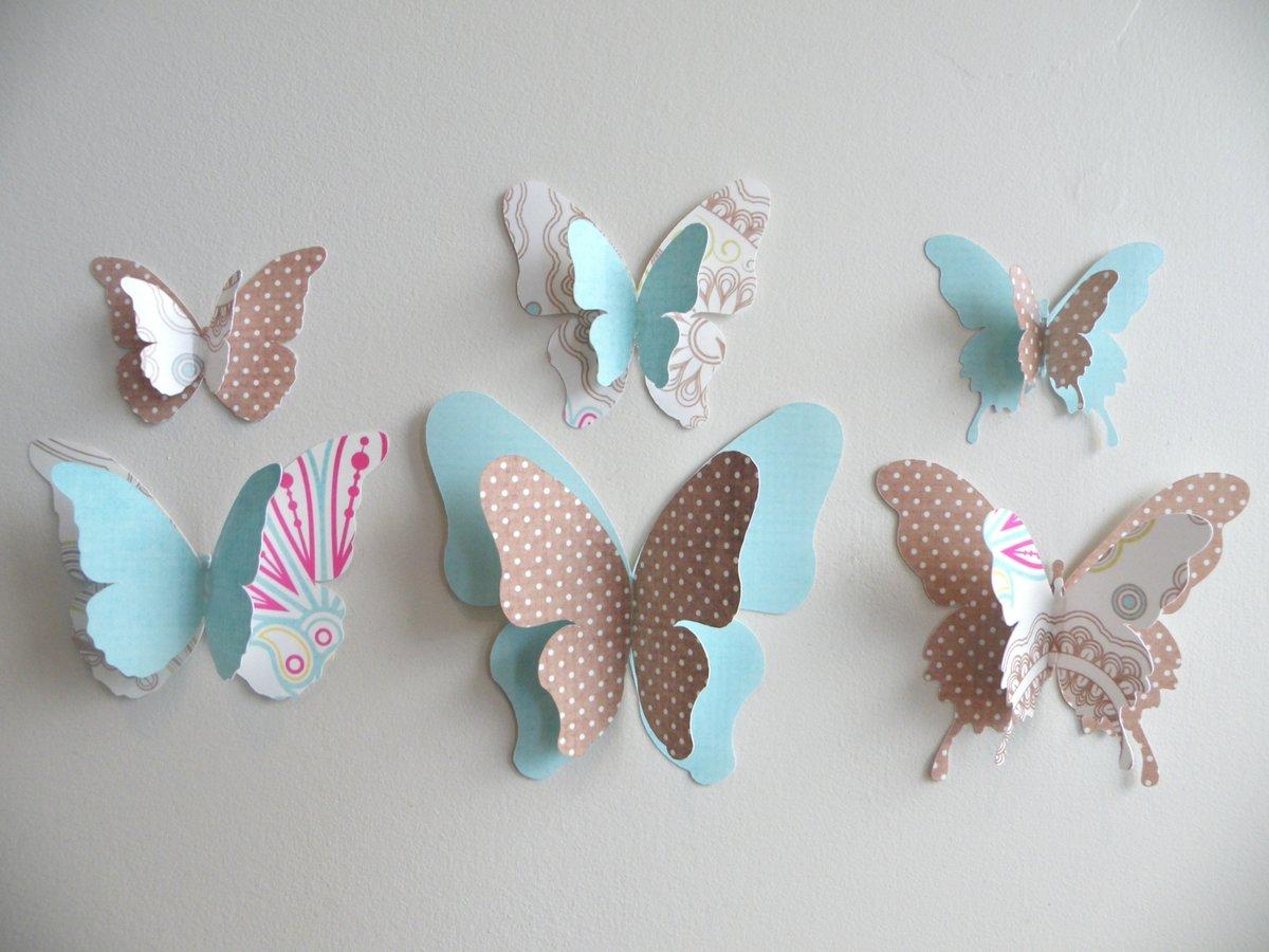 3d бабочки на стену своими руками 319