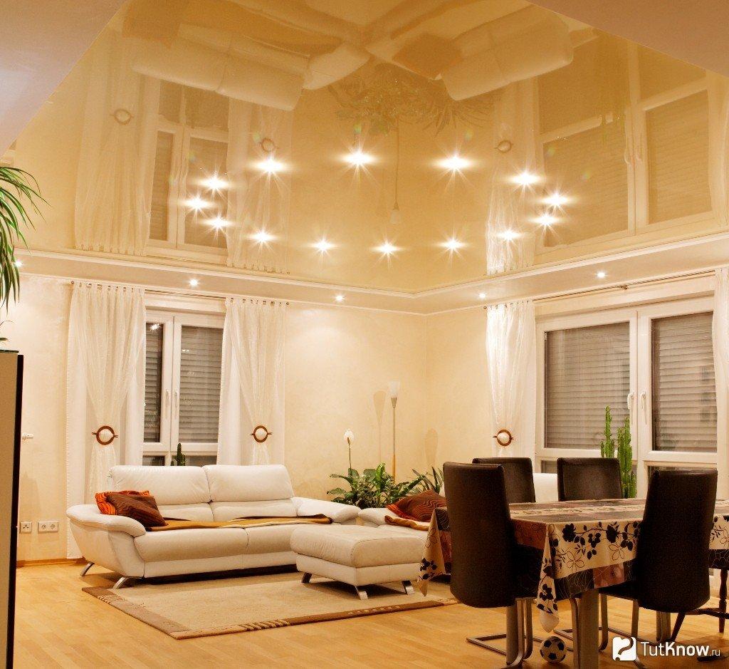 Потолочные светильники-споты - фото, что они собой