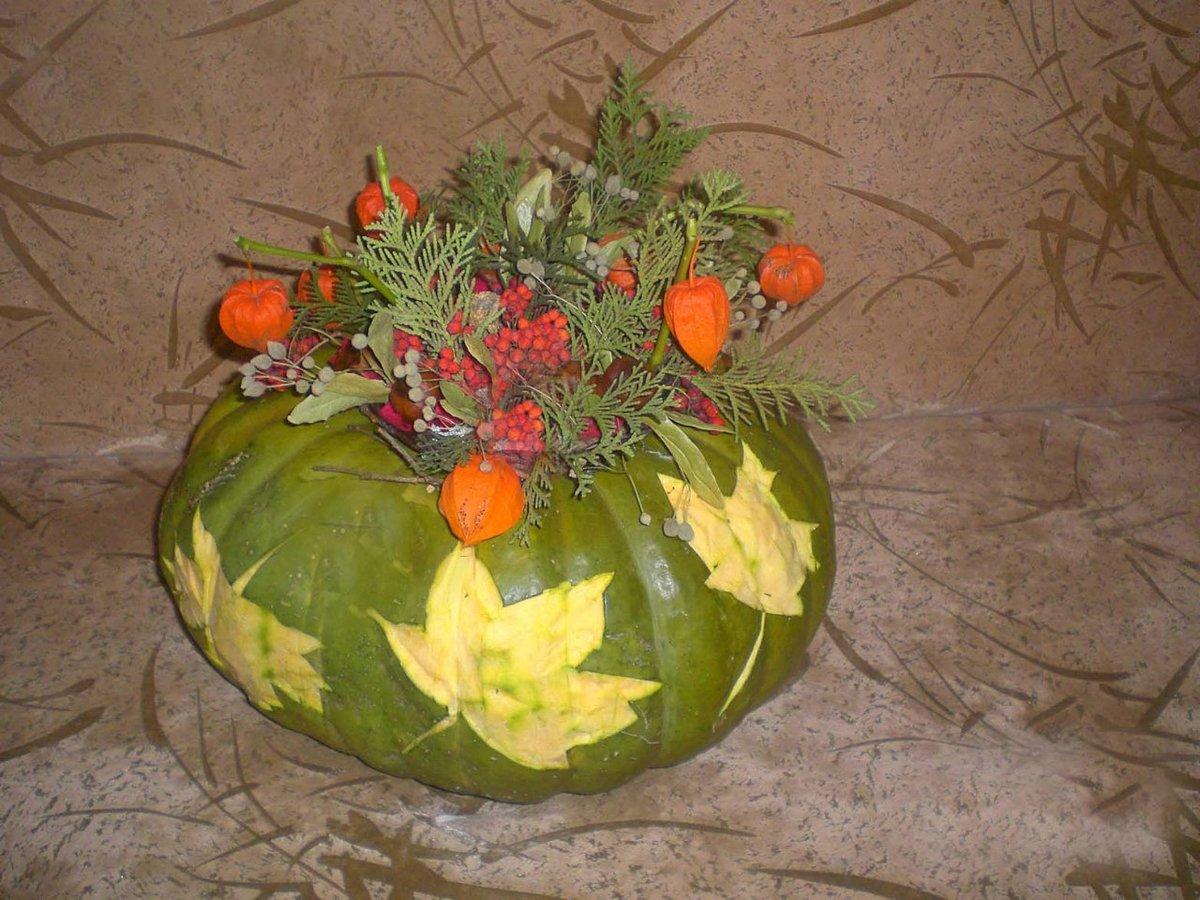 Поделки ваза с цветами из овощей 54