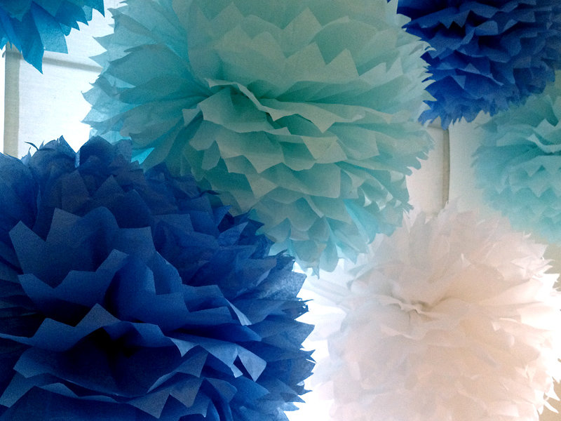 Бумажные шары помпон своими руками