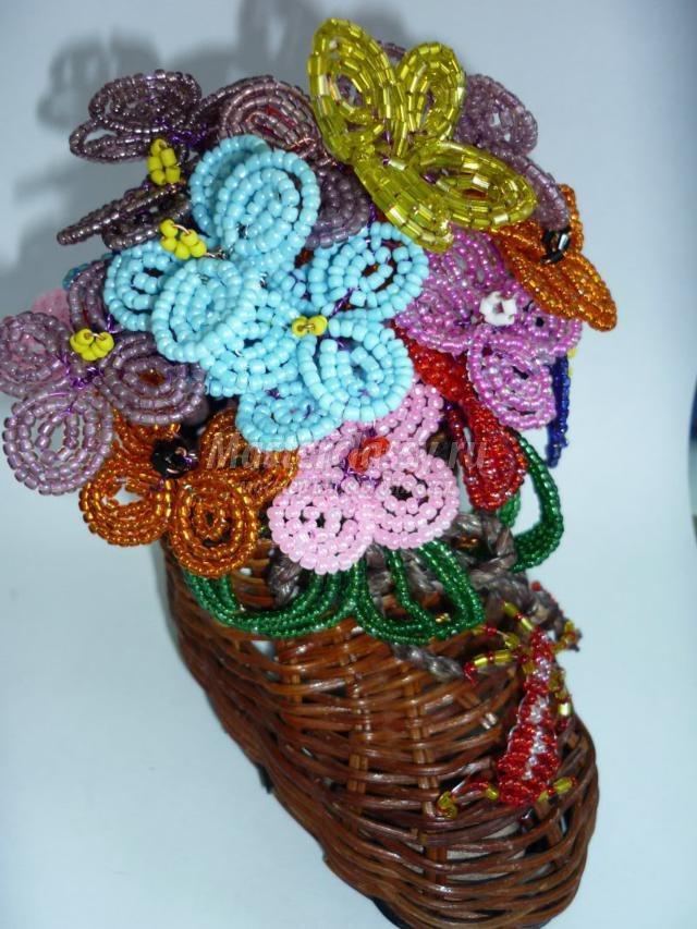 Бисероплетение букеты цветов с пошаговым