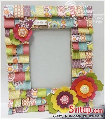 Рамка для фото из бумаги детей