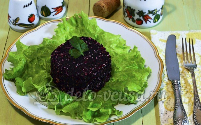 Постный салат из свеклы рецепты с