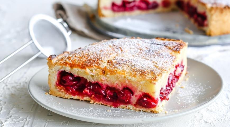 Вишневый пирог пошаговый рецепт с фото