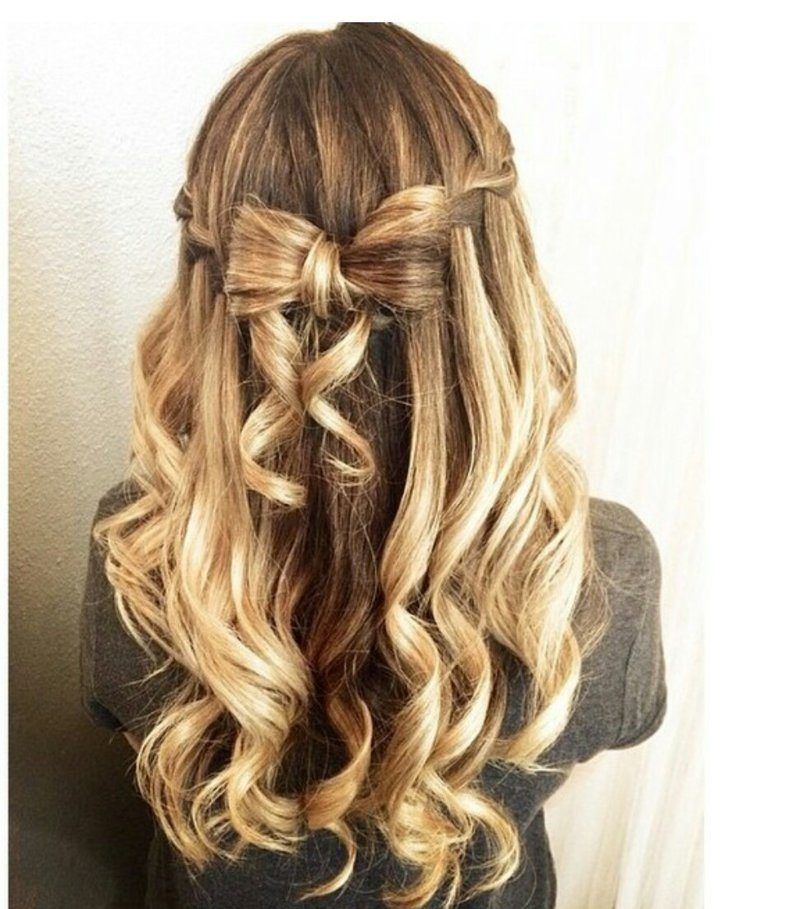 Причёски с завитых волос фото