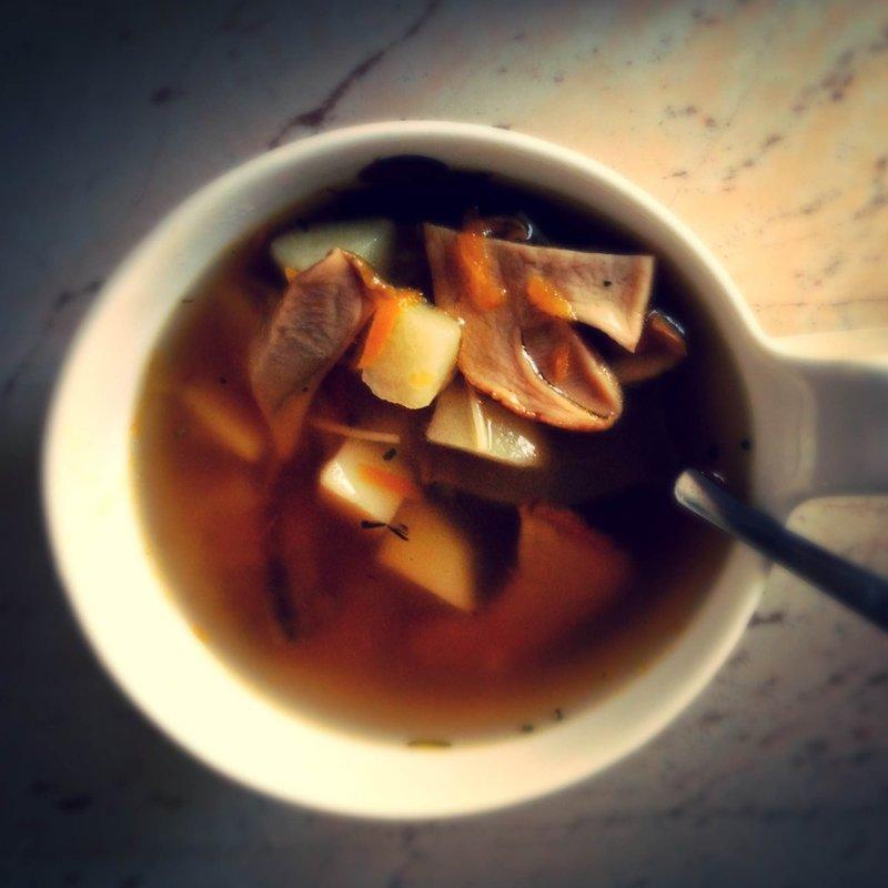 Грибной суп из белых грибов сухих