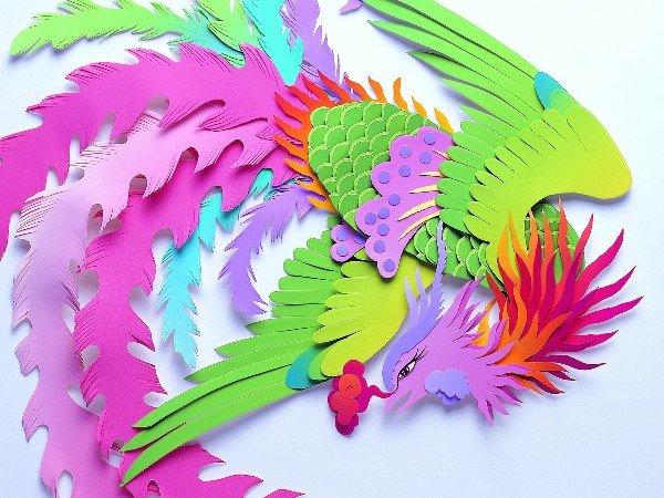 Из цветной бумаги как сделать птицу из бумаги