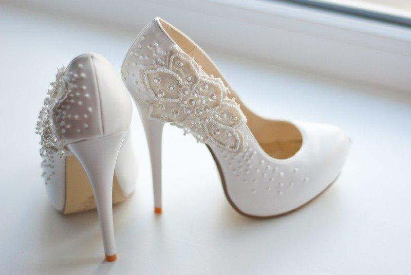 Белые свадебные туфли купить в екатеринбурге