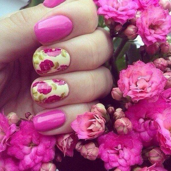 Фото гель лака с цветами