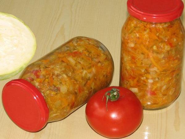 Рецепт риса с капустой на зиму