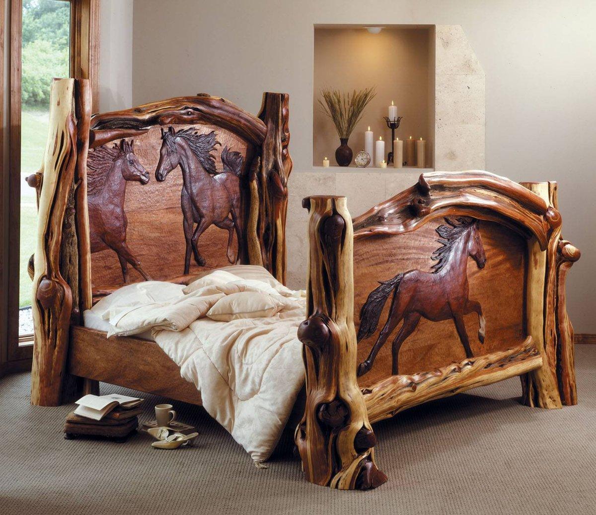 Резные кровати из дерева своими руками фото