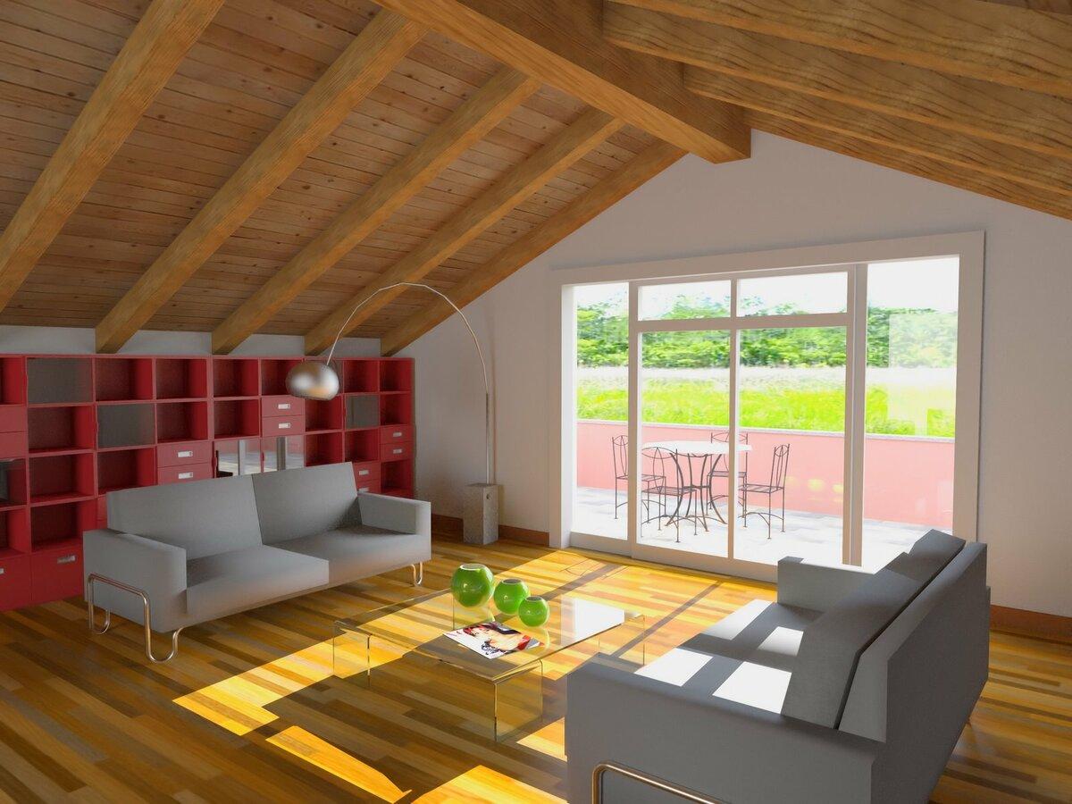 Дизайн мансарды в многоквартирном доме