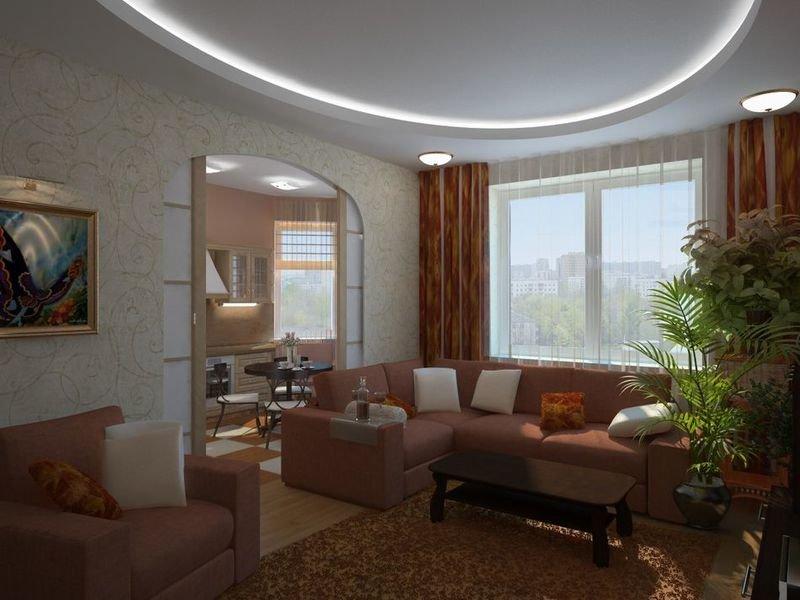Дизайн гостиной в хрущевке с аркой