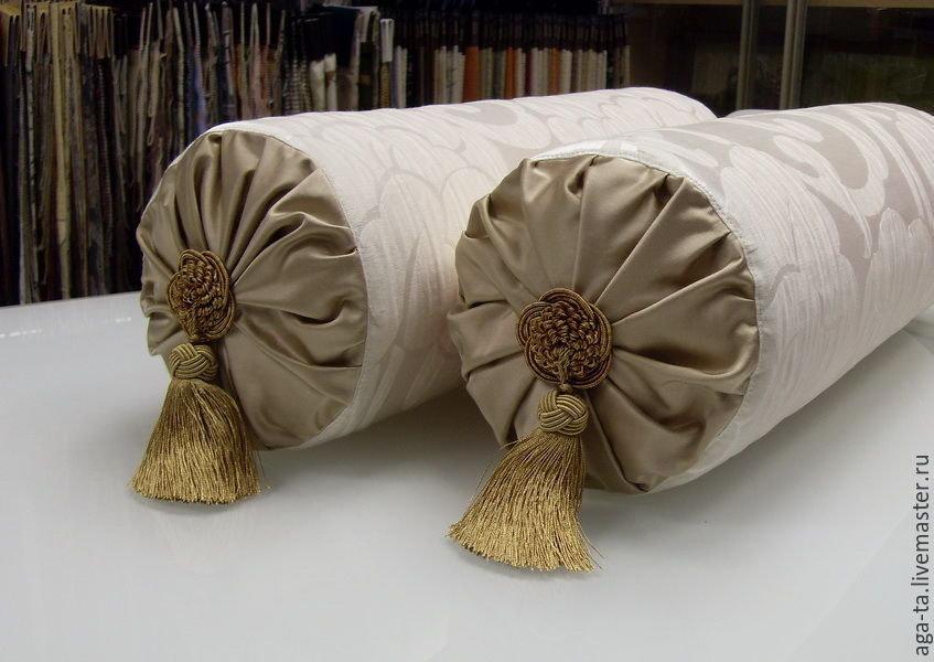 Как сшить декоративную подушку валик 37