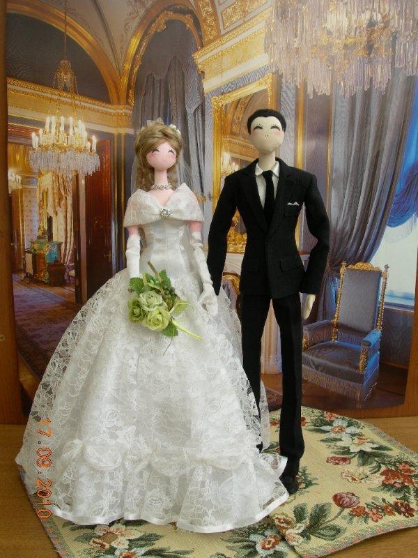Жених с невестой своими руками