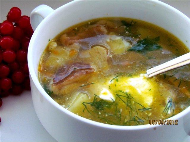 Суп из белых грибов свежих грибов рецепт с пошагово в