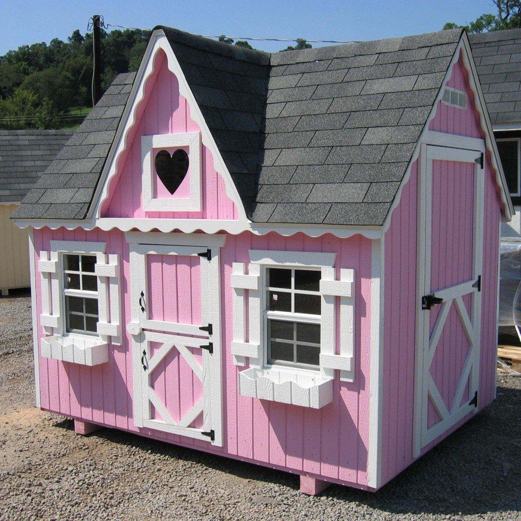 Домики для девочек на даче своими руками фото