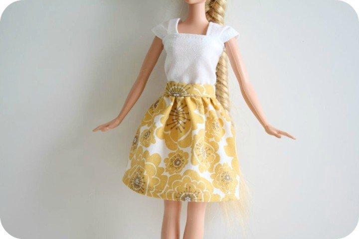 Как сшить короткое платье кукле 960