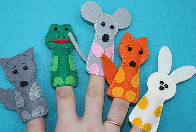 Сшить кукольный театр на палец