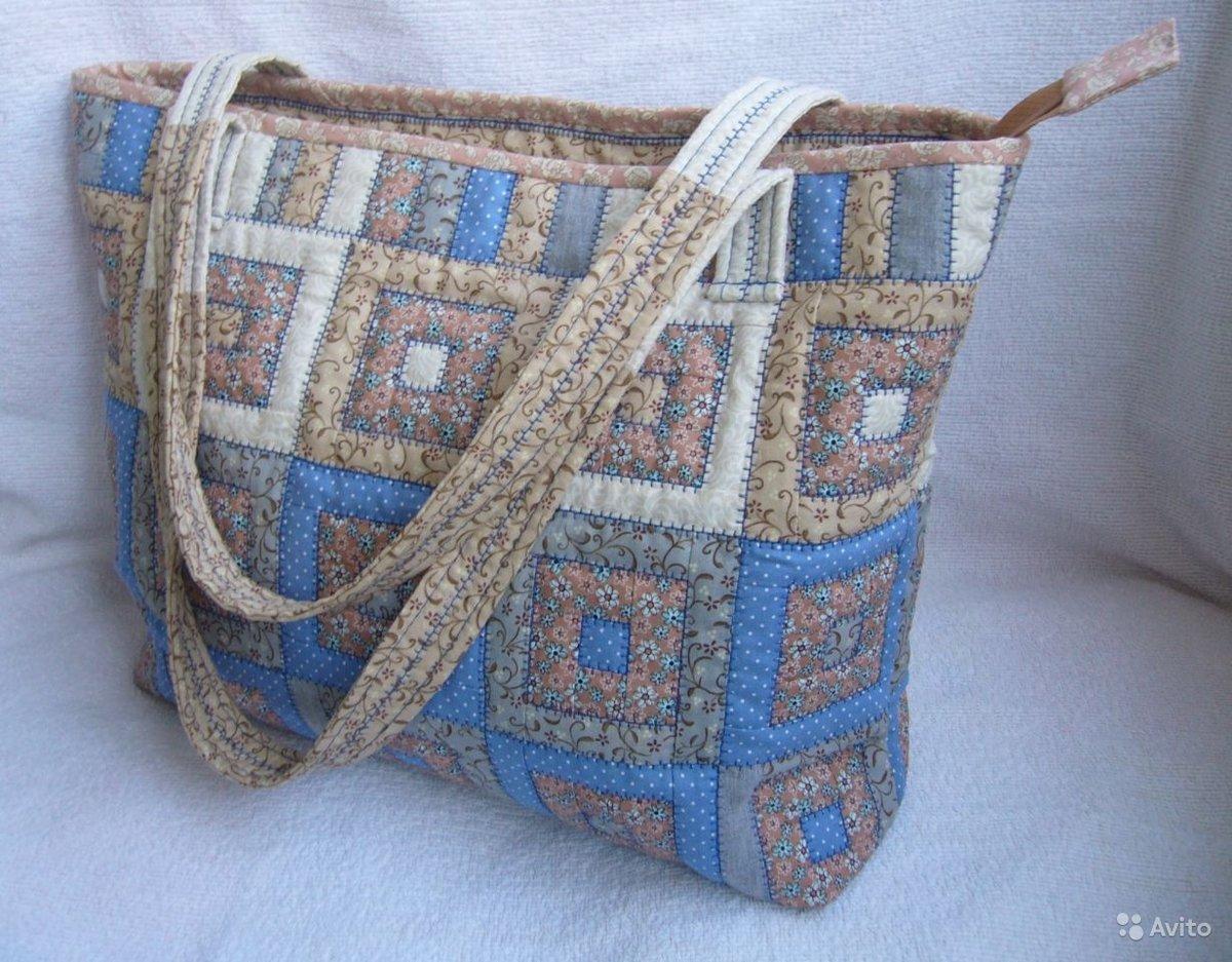 Сшить пляжную сумку в стиле пэчворк 9