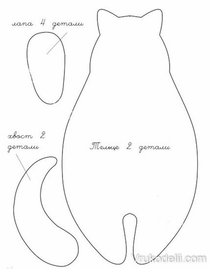 Выкройки котиков-тильд