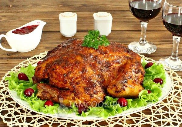 Курица целиком в фольге в духовке рецепт пошагово в