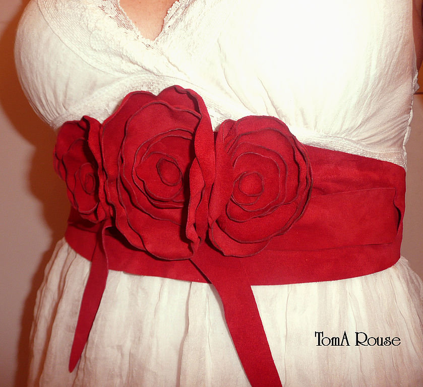 Красивые цветы на платье своими руками 64
