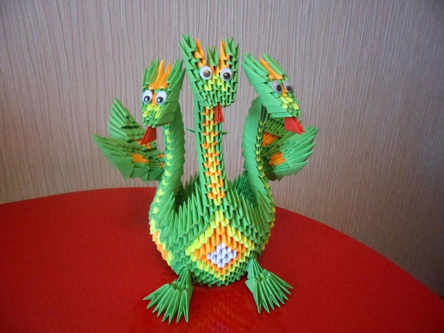 Змей горыныч из бумаги своими руками