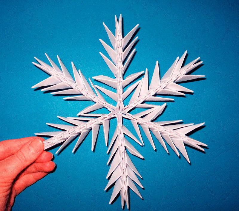 Снежинка из модулей как сделать