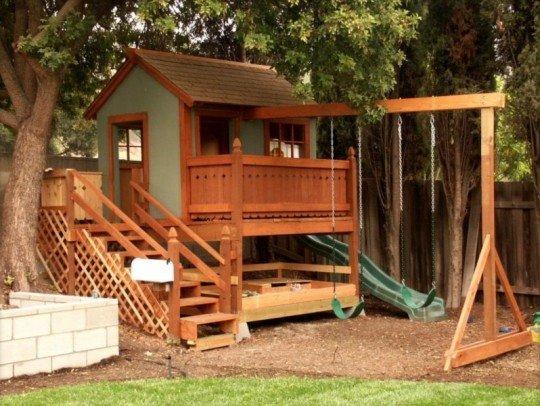 Детский домик для дачи из дерева своими руками