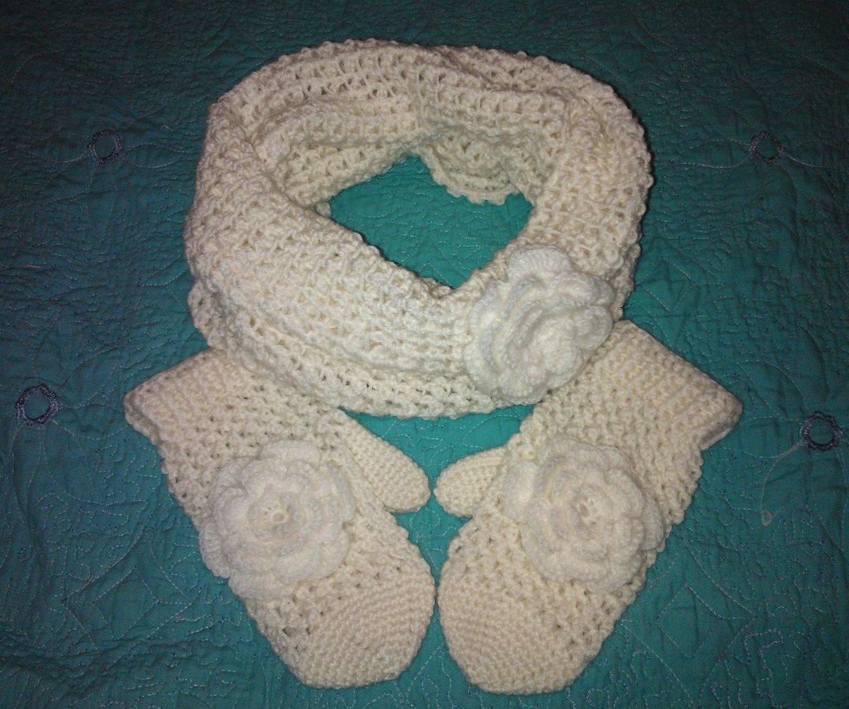 Вязание варежек и шарфов для детей 52
