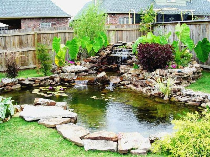 Водопад и пруд в саду своими руками