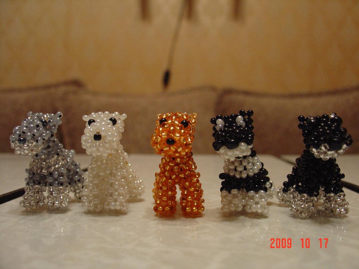 Объемные игрушки из бисера пошаговое