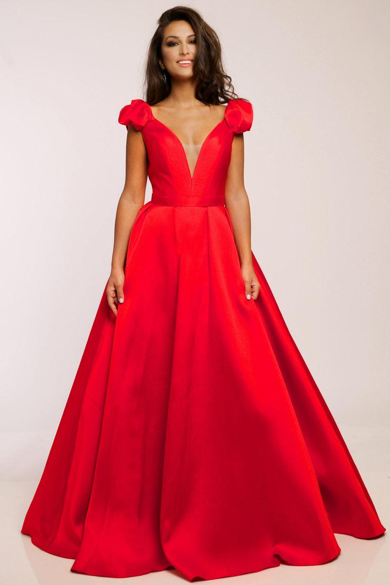 Платье на выпускной атласное