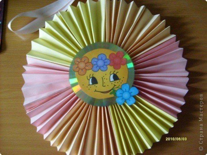 Как сделать из бумаги солнца