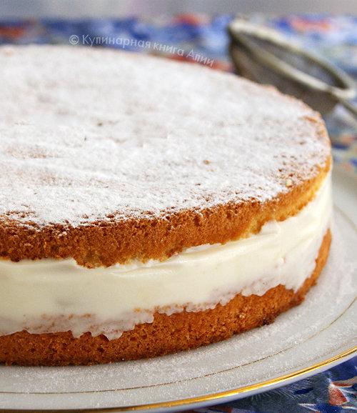 Бисквитный творожный торт рецепт