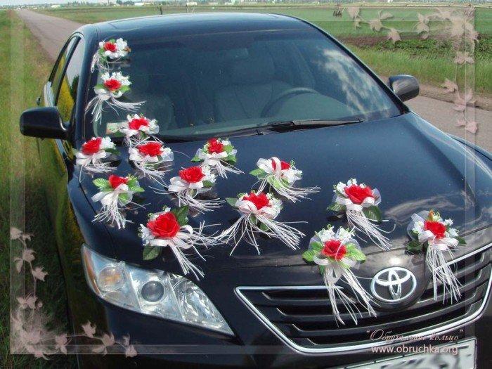 Свадебное украшение машин своими руками фото
