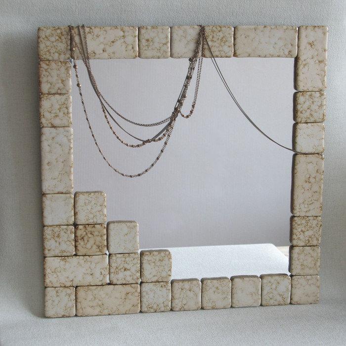 Декор настенных зеркал своими руками 5