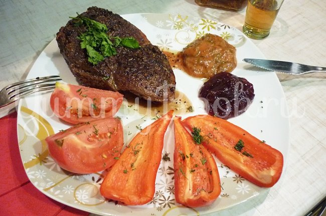 Рецепт стейка из говядины с пошаговым