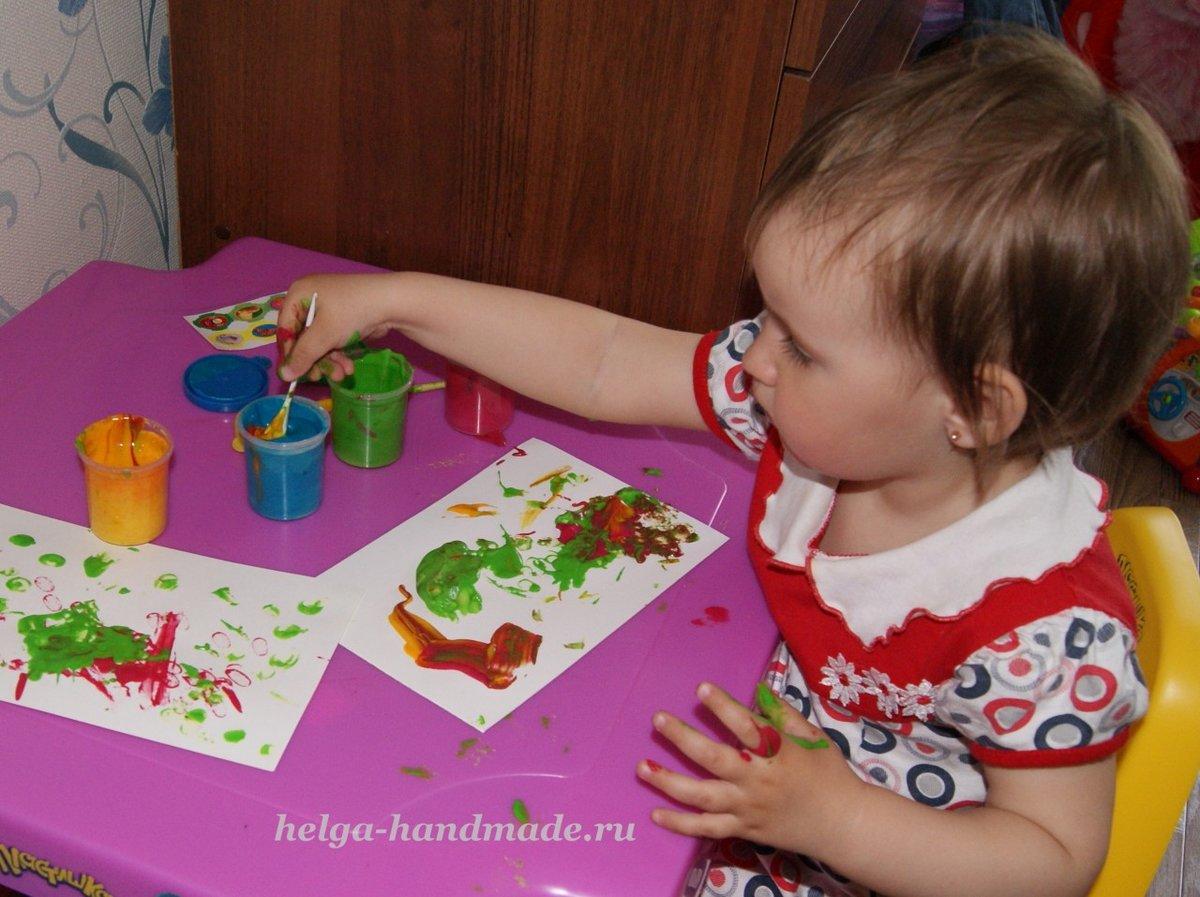Рисование с детьми 2-3 лет фото рисунков