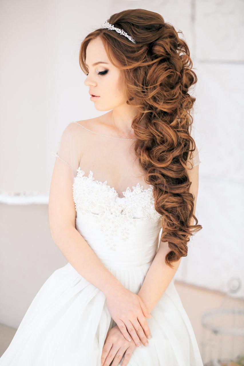 Фото свадебная причёска для длинных волос