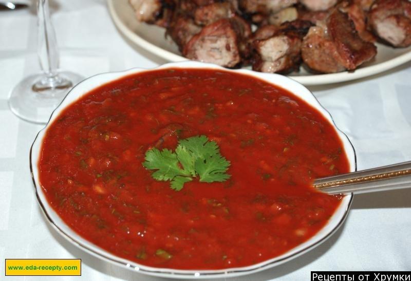 Соус к шашлыку в домашних условиях из томатной