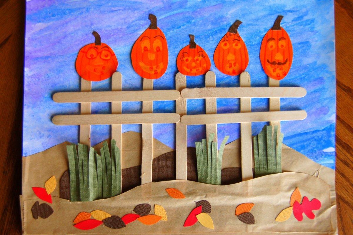 Как сделать поделку на осень из цветной бумаги