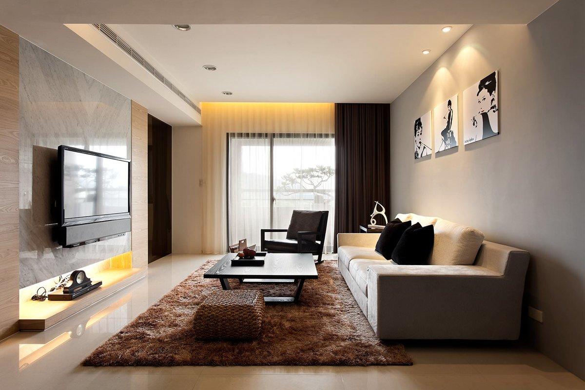 Дизайн проект гостиной комнаты 20 кв.м
